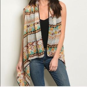 Accessories - Taupe Orange Kimono